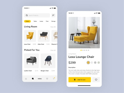 Scandinavian Furniture landing page product page ecommerce shop ecommerce design website ecommerce ui webdesign ux web