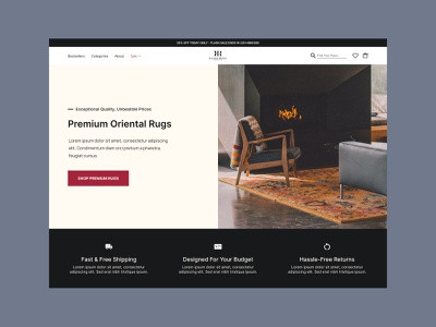 Kalili Rugs design web ecommerce shop landing page ux ui webdesign ecommerce design website ecommerce