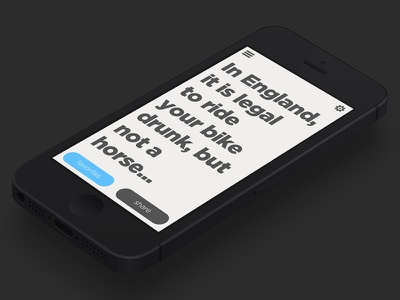 Knowledge App application iphone app clean white colorful typography knowledge