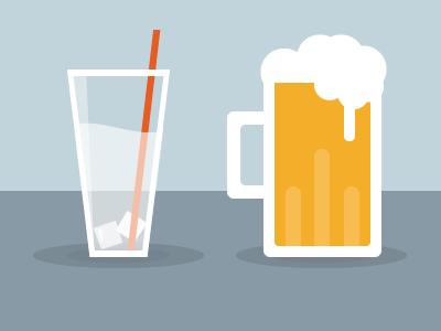 Drink Icons icon illustration magazine infographic minimal drink bear