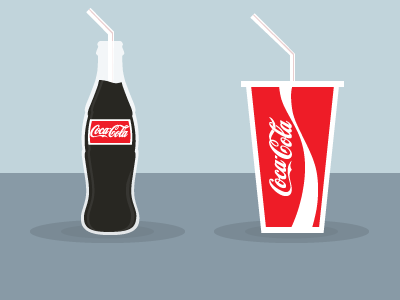 Drink Icons icon illustration magazine infographic minimal drink coca cola coca cola