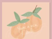 Real Peach Print illustration peaches food art foodie female artist female illustrator canadian illustrator illustrator print design peach print