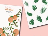 Branding Guide beauty artist leaves flowers oranges illustrator graphic design illustrations illustration branding design branding