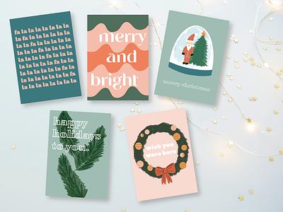 Holiday Card Pack design illustrator illustrations graphic design illustration holiday card christmas design christmas cards holiday design holiday cards