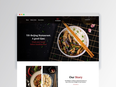 Chinese Restaurant restaurant branding branding ui website web design