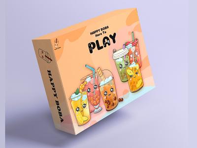 Boba Board game game art game design logo dailyui branding ui