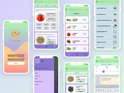 Backfarm App Design visual design farm app dailyui uidesign app design