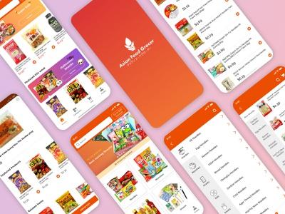 Asian Food  Grocer App Design visual design dailyui mobile app design grocery app app design branding uidesign