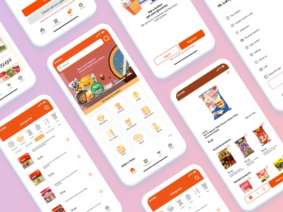 E-commerce App Design asian food grocery app ecommerce ecommerce app mobile app design app design dailyuichallenge visual design uidesign dailyui