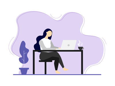 Working From Home art vector working home covid19 business graphicdesign illustration design flat