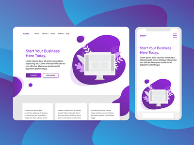 Web Design Mock Up digitalmarketing brand modern desktop phone website webdesign designs ux ui business graphicdesign design flat