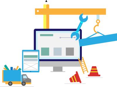 Website Maintenance  Vector