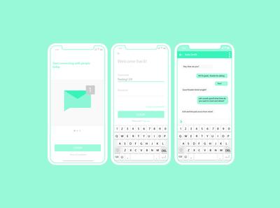 Messaging App Concept Mockup