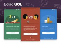 Onboarding Screens for Bolão UOL