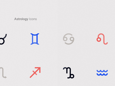 Astrology Icons Closeup