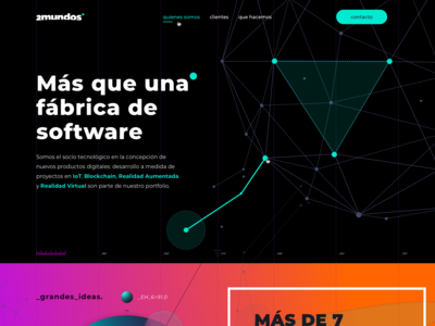 Landing Page concept for 2Mundos