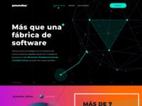 Landing Page concept for 2Mundos layout landing page polygons vector branding web design website ui