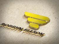 ROBBYN ELLSON ( Initials Letters Logo )