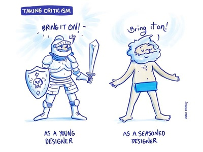 Taking Criticism character naked armor designer hand drawn comics
