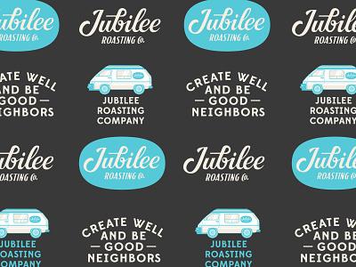 Jubilee Roasting Co. badge custom type script lettering logo design branding coffee