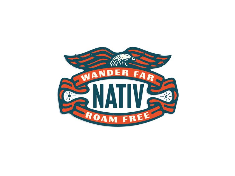 Liv Nativ eagles merch design merchandise design apparel logo badge icon