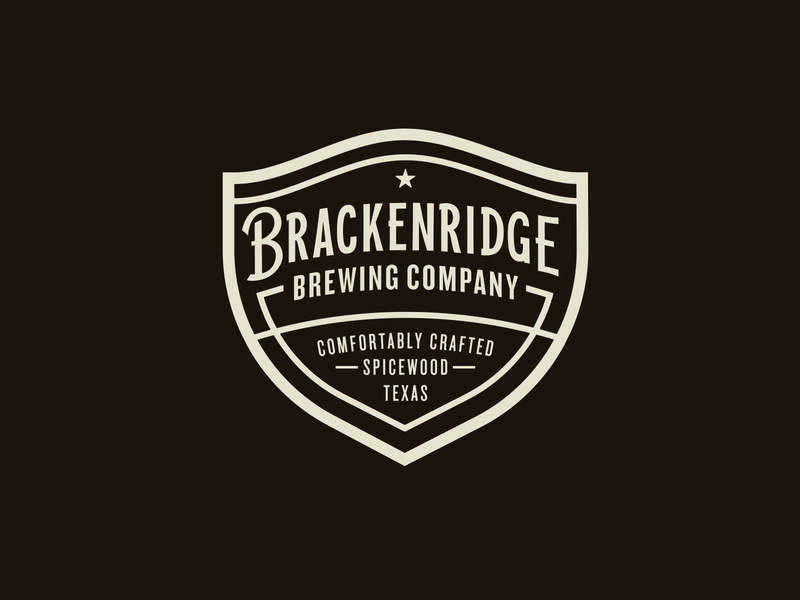 Brackenridge Brewing Company badge design brewery logos logo design branding texas beer texas brewery brewery branding brewery beer