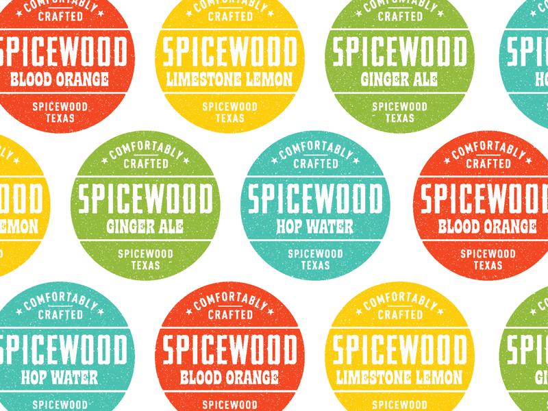 Spicewood Sodas customized type typography print branding label system label design craft soda texas logo design pop soda
