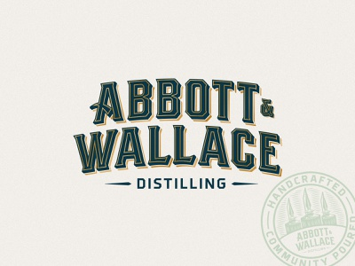 Abbott and Wallace Distilling typedesign logotype lettering typography colorado whiskey whiskey bourbon colorado bourbon colorado distillery craft spirits distillery brand design branding brand logo design logos
