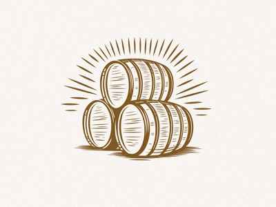 Bourbon Barrels labels packaging print kevin kroneberger abbott and wallace distilling longtucky craft spirits digital illustration woodcut illustration bourbon distillery