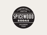 Spicewood Sodas brand designer logo designer kevin kroneberger badge design branding brand logo craft soda texas typography lettering soda