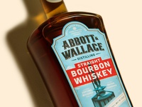 Abbott and Wallace Distilling still brand designer branding print illustration custom typography lettering kevin kroneberger colorado whiskey packaging design label design whiskey bourbon spirits