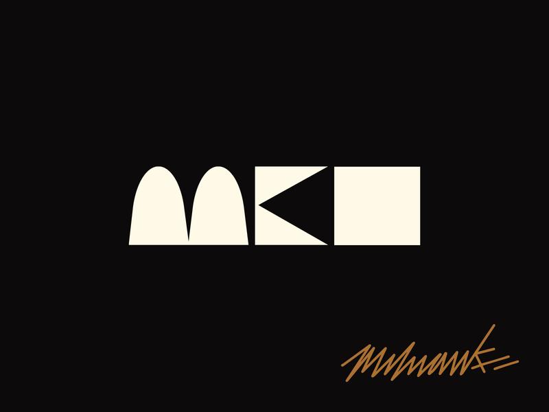 Milwaukee, WI typography type lettering abstract branding logo logo design milwaukee