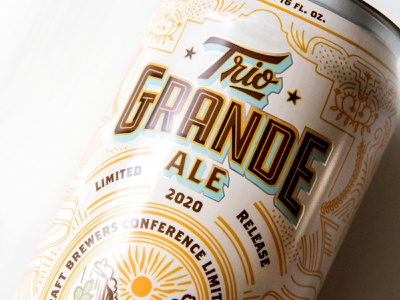 Craft Brewers Conference beer design craft beer illustration monoline lettering typography can design beer label