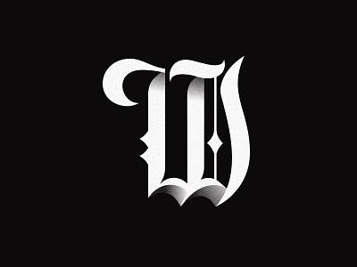 W brand identity branding font typography blackletter lettering logo brand