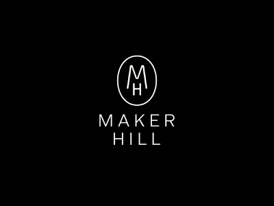 Maker Hill handcrafted lifestyle type typography minimal simple design monogram logo design branding gifting gifts maker