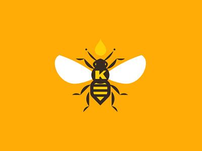 Knapp's Nectar flat modern branding honey bee bee packaging design colorado logomark icon logo