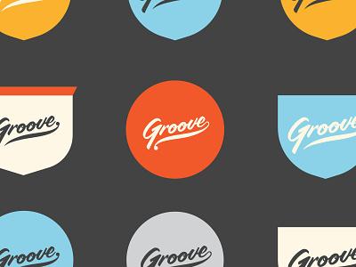 Groove logo mark concept script type brand app