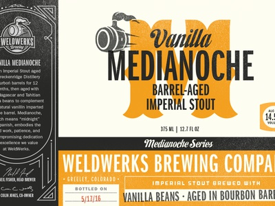 WeldWerks Brewing Co. lettering type typography packaging labels colorado bottle bottle design brewery beer craft beer