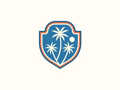 Florida Outdoor Experience palm trees branding badge shield logo