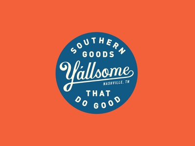 Y'allsome the south tennessee nashville apparel type lettering