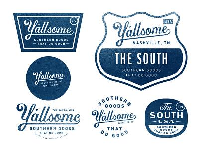 Y'allsome custom type tennessee nashville logo branding lettering