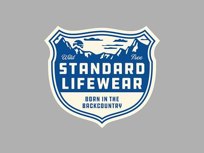 Standard Apparel badge type mountains logo apparel
