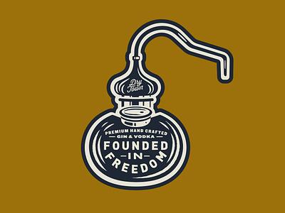 Apparel Concept lockup badge still apparel craft spirits gin distillery