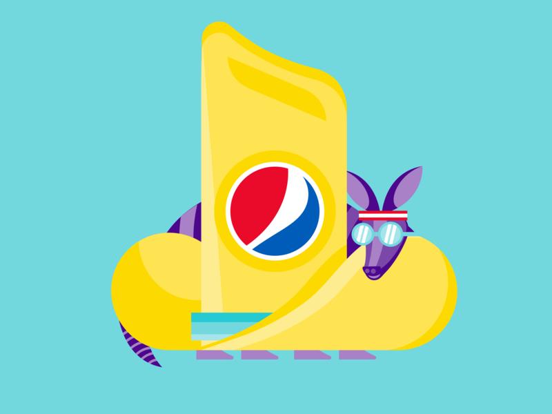 It's Summertime! app icon illustration 10 gallon hat texas armadillo