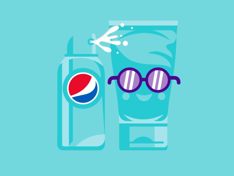 It's Summertime! kroneberger smiles sunscreen packaging illustration icon