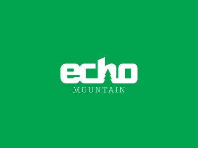 Echo Mountain colorado resort echo mountain typography logo design logo branding ski resort snowboarding skiing