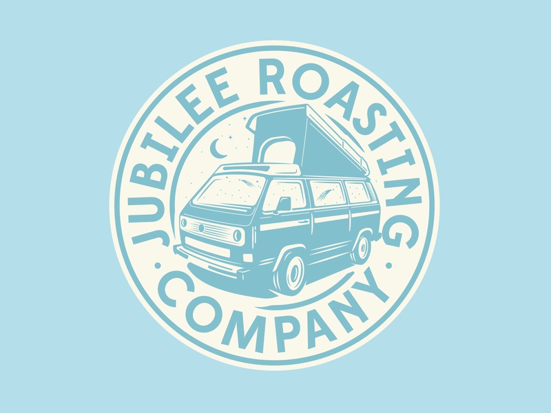Jubilee Roasting Co. badge westfalia vw bus vw van illustration coffee logo