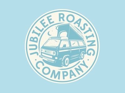 Jubilee Roasting Co. badge westfalia vw bus vw van illustration coffee logo