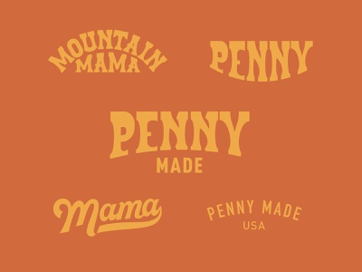 Penny Made psychedelic western vintage retro lettering custom type type apparel