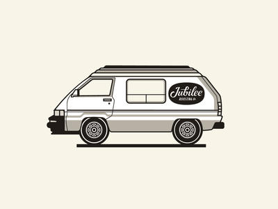 Jubilee Roasting Co. retro vintage illustration coffee craft coffee jubilee icon westfalia vw van vw bus